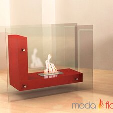 Arta Contemporary L Shaped Ethanol Indoor/Outdoor Fireplace