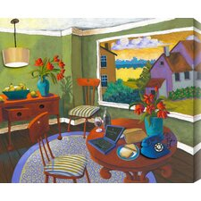 Dinner and a Movie by Susan Webster Painting Print on Canvas