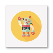 Kids Art Billy the Boy Robot by Eat Cute Graphic Art on Wrapped Canvas