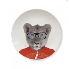 Wild Dining 17.43 cm Ceramic Dinner Plate in Baby Lion