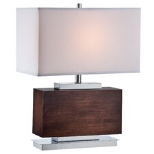 "Firminio 23.5"" H Table Lamp with Rectangular Shade"