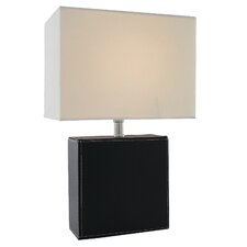 """Leandra 17"""" H Table Lamp with Rectangular Shade"""