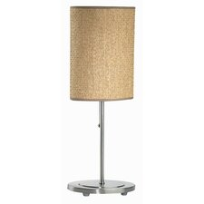 """Brando Rattan 20.5"""" H Table  Lamp with Drum Shade"""