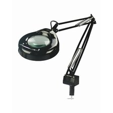 """Magnify-Lite Magnifying 40.5"""" H Table Lamp with Drum Shade"""