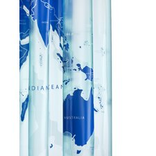 World Map PVC Shower Curtain