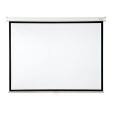"Matte White 100"" diagonal Manual Projection Screen"