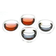 Oslo 4.23 oz. Double Walled Tea Cup (Set of 4)