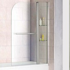 AquaSpa Luxury 140cm x 120cm Hinged Bath Screen
