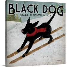 Black Dog Ski by Ryan Fowler Gallery Graphic Art on Wrapped Canvas