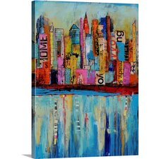 City by the Bay by Erin Ashley Painting Prints on Gallery Wrapped Canvas