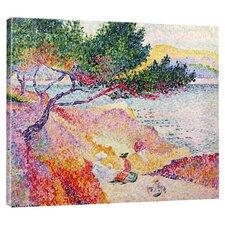 La Plage De Saint Clair by Henri Edmond Cross Gallery Painting Print on Wrapped Canvas