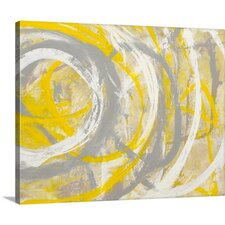 """Yellow Aura"" by Erin Ashley Graphic Art on Canvas"