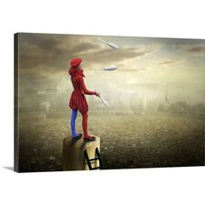 'The Little Juggler at a High Level' by Ben Goossens Photographic Print on Canvas