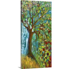 'Blue Autumn' by Jennifer Lommers Painting Print on Canvas