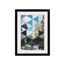 Prismatic Trees Framed Graphic Art