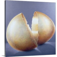 'Cracked Bronze Age Egg' by Lincoln Seligman Painting Print on Canvas