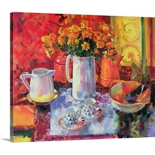 'Table Reflections' by Peter Graham Painting Print on Canvas