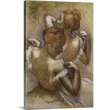 'Two Dancers Adjusting Their Shoulder Straps, c.1897' by Edgar Degas Painting Print on Wrapped Canvas