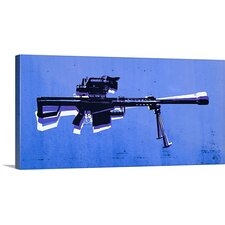 'M82 Sniper Riflee' by Michael Tompsett Graphic Art on Wrapped Canvas in Blu