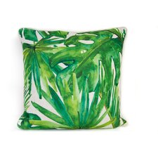 Tropical Linen Throw Pillow