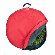 Santa's Premium Christmas Wreath Storage Bag with Direct-Suspend Handle