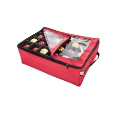 Santa's Bags Premium Christmas Ornament Storage Bag with 2 Trays