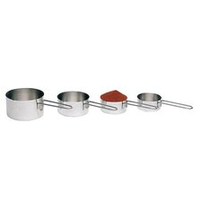 4 Piece Stainless Steel Measuring Cup Set