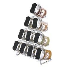 11 Piece Oval Spice Rack Set