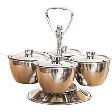 Relish 5 Piece Stainless Steel Bowl Server Set