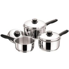 3-Piece Saucepan Set with Lids