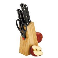 7-tlg. Messerblock-Set Apple