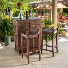 Santa Monica 3 Piece Bar Set