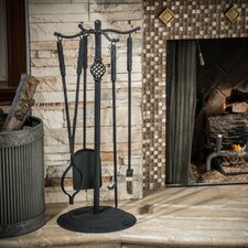 Carlotta 5 Piece Iron Fireplace Tool Set