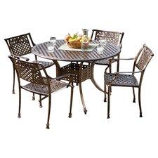 Vigo Cast Aluminum Dining Set