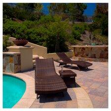Armando 3 Piece Adjustable Lounge & Wicker Table Set
