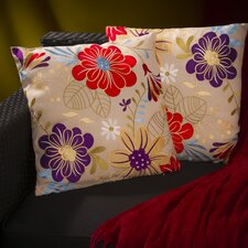 Meadow Embroidered Flowers Throw Pillow (Set of 2)