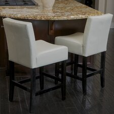 "Bonded 26"" Bar Stool with Cushion (Set of 2)"