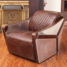 Moore Leather and Metal Club Chair