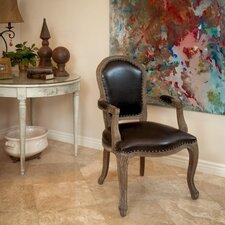 Carolina Leather Weathered Wood Arm Chair