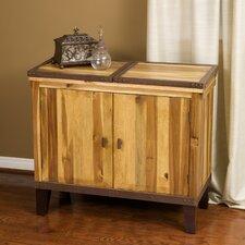 Knox Acacia Wood Bar Cabinet
