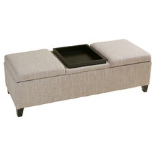 Henderson Upholstered Fabric Storage Ottoman