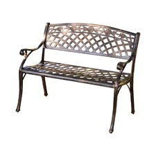 Closson Cast Aluminum Garden Bench