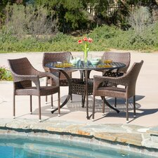 Danielian 5 Piece Outdoor Dining Set