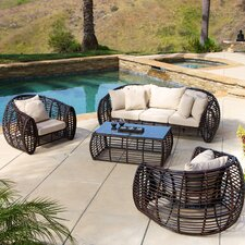 Lexie 4 Piece Seating Group with Cushions