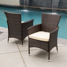 McClure Dining Arm Chair with Cushion (Set of 2)