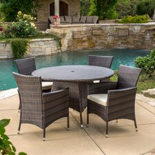 Rodgers 5 Piece Dining Set with Cushions