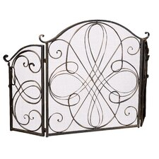 Oxford 3 Panel Iron Fireplace Screen