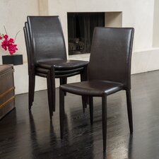Lilian Leather Dining Chair Set (Set of 4)