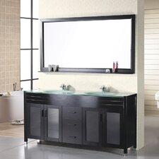 """61"""" Double Bathroom Vanity Set with Mirror"""