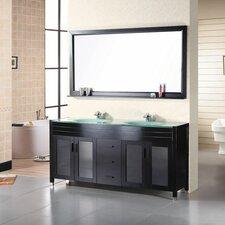 """71"""" Double Bathroom Vanity Set with Mirror"""